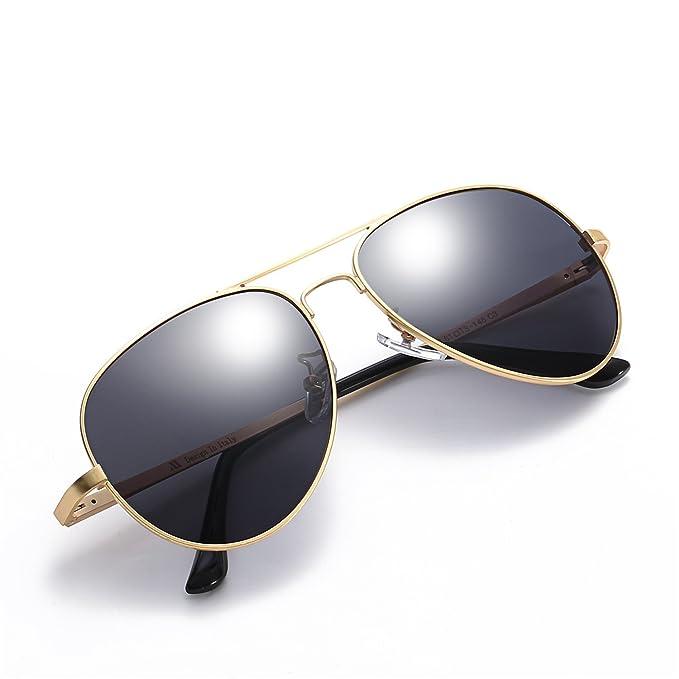Gafas De Sol Moda Aviador Hombre Polarizadas Para Al Aire Libre 100% Protección UV (