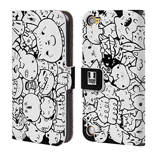 Head Case Designs Gatti Esplosione Di Doodle Cover a portafoglio in pelle per iPod Touch 5th Gen / 6th Gen