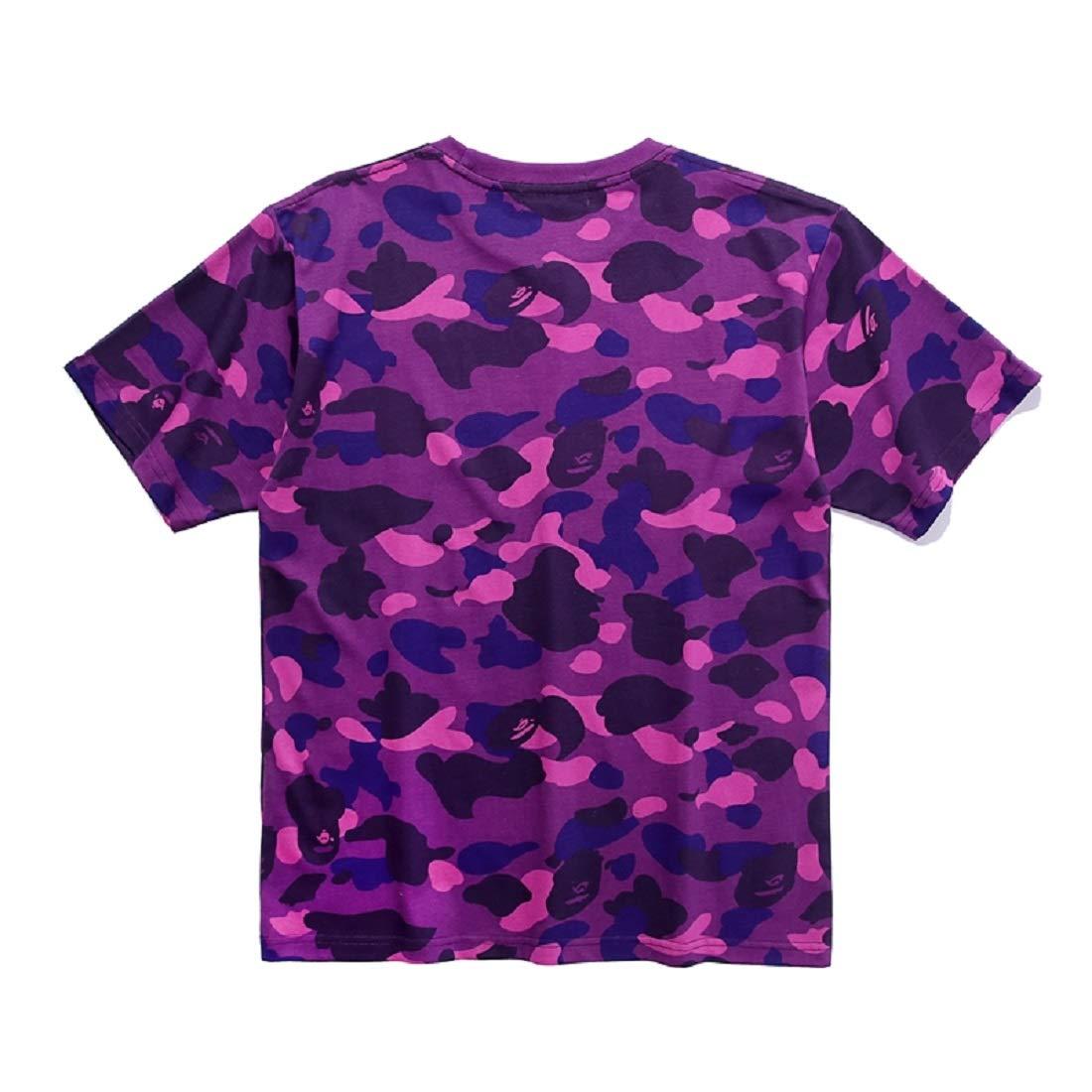 3f9691598a6a Amazon.com  Christo Boys Casual Fashion Crewneck T Shirt Camo Tees Unisex  Pullover Tops  Clothing