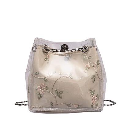 6f1a977d0f07 Amazon.com: YEZIJIN Clearance! Women Small Transparent Bucket Bags ...