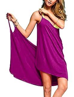 cedd5e07959 Baonmy Sexy Women Spaghetti Strap Bikini Cover Up Beach Backless Wrap Dress