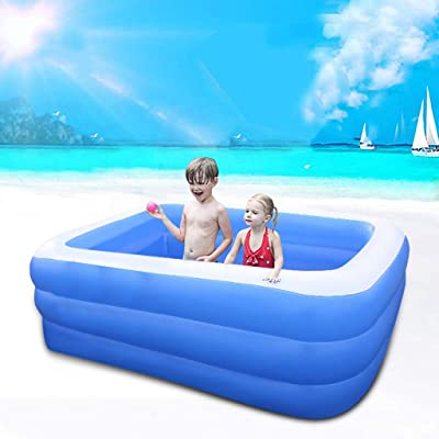 wanzi2 Household Inflatable Bathtub Swimming Pool Thicken,Swim Center Family Lounge Pool, Inflatable Swimming Soft Side Pool Bathtubs Hot Tubs for Kids & Adults (Blue): Home & Kitchen