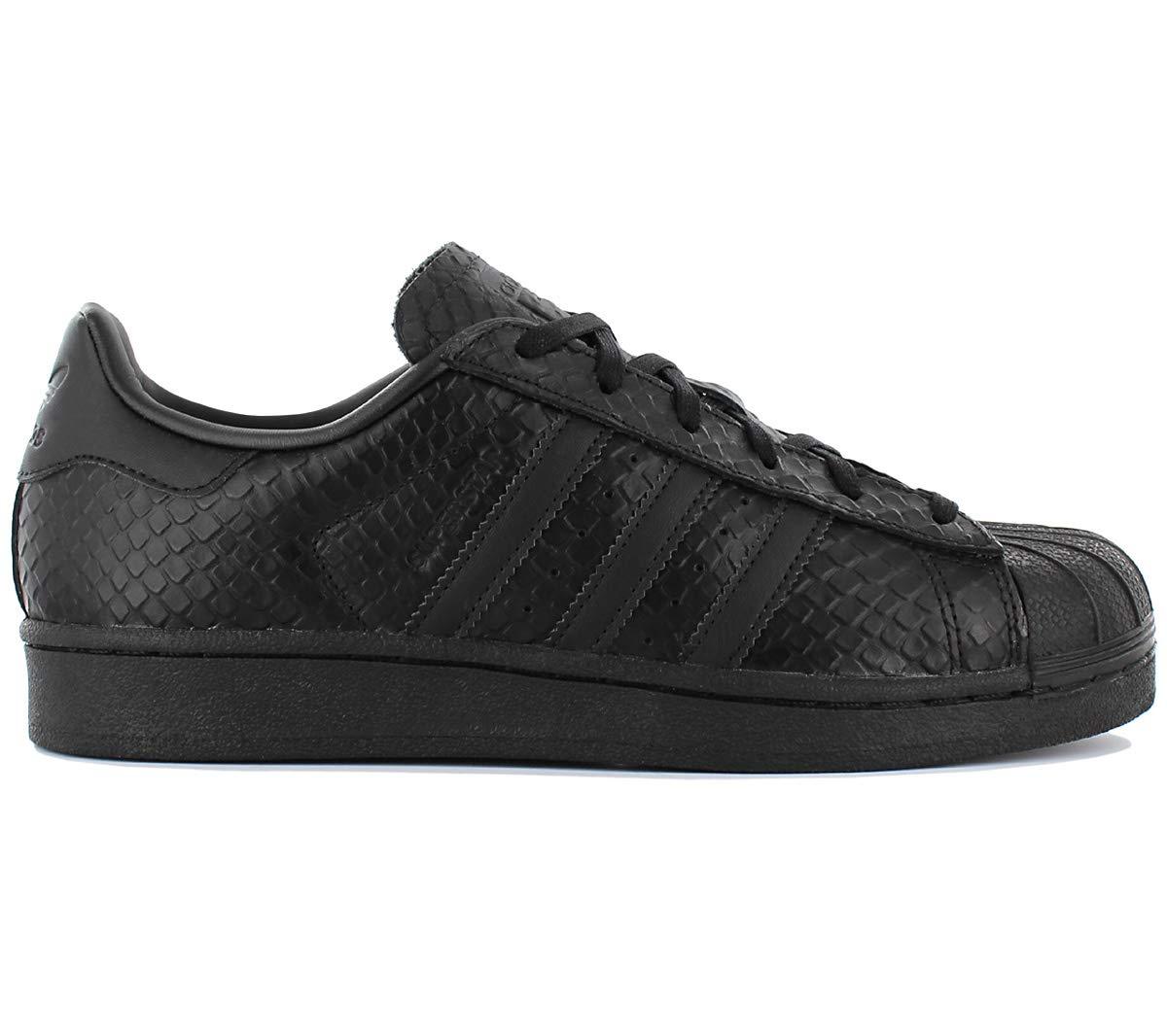 adidas superstar w black black white