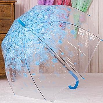 HAN-NMC Cherry Paraguas plegable paraguas transparente niño paraguas largo,B