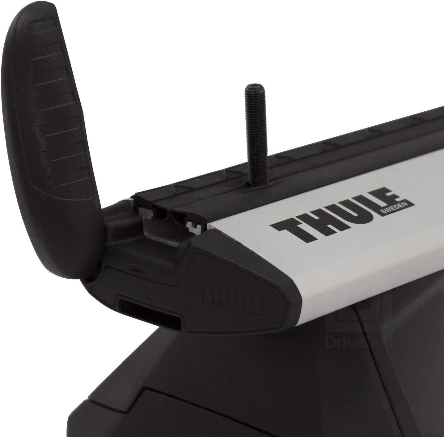 Thule TH-WBS-0968 WingBar Evo Silver Aero Aluminium Roof Bar Set Normal Roof