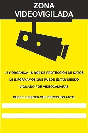 MovilCom® - Adhesivo ZONA VIDEOVIGILADA | CAMARA VIGILANCIA 200X300mm homologado nueva legislación (ref.RD30642)