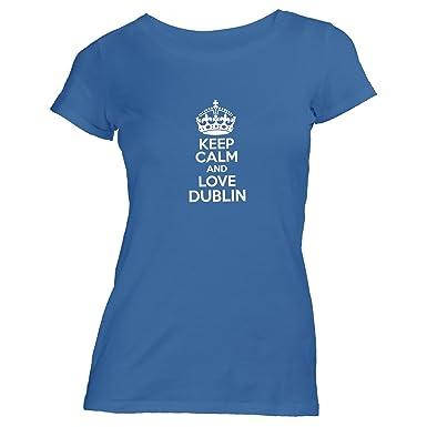 Monkiez Damen T-Shirt - Keep Calm and Love Dublin - Heimweh Geschenkidee  Irland,