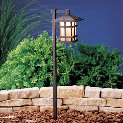 ss Creek Path & Spread 1-Light 120V, Aged Bronze (Style 120v Path)