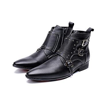 Mr.Zhangs Art Home Mens shoes Botines de Zapatos de Hombre de Punta ...