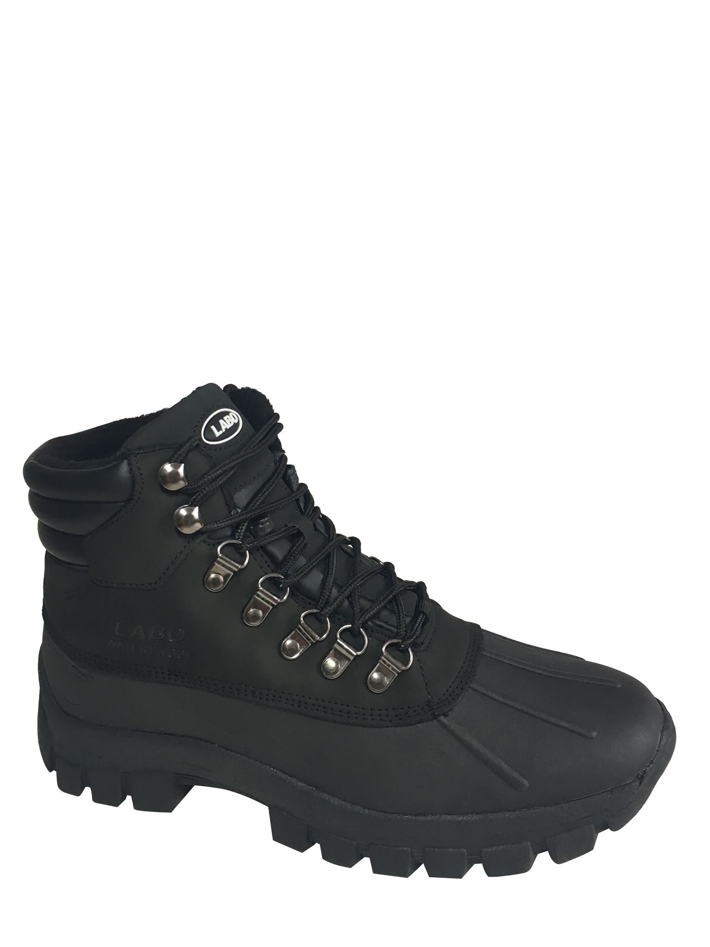 LABO Men's Winter Snow Boots Shoes Waterproof Insulated Lace up (D,M) 602 BLACK-10