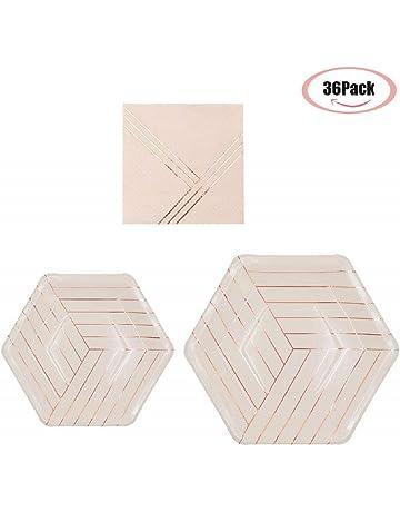 """18cm 500 x jetable ROND papier BLANC plaques 7 /"""""""