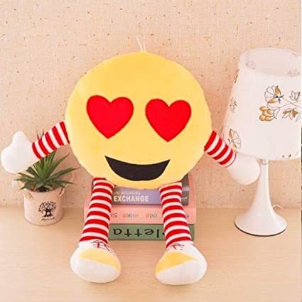 Frantic Best Heart Eyes Soft Cute Pillows with Legs & Hands