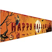 YKKJ 250 x 49 cm de tela de fondo de Halloween telones de fondo de pared de tela de decoración de Halloween de calabaza…