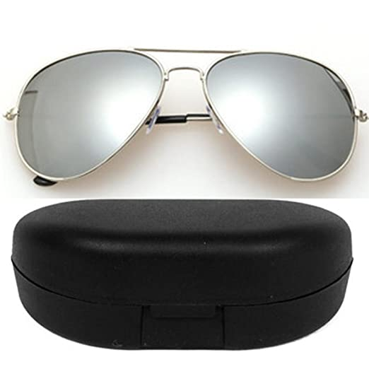 26fde2237d8 SHEOMY COMBO OF STYLISH GOLDEN SILVER MERCURY AVIATOR AND BLUE MERCURY  WAYFARER SUNGLASSES WITH 2 BOX Best Online Gifts  Amazon.in  Clothing    Accessories