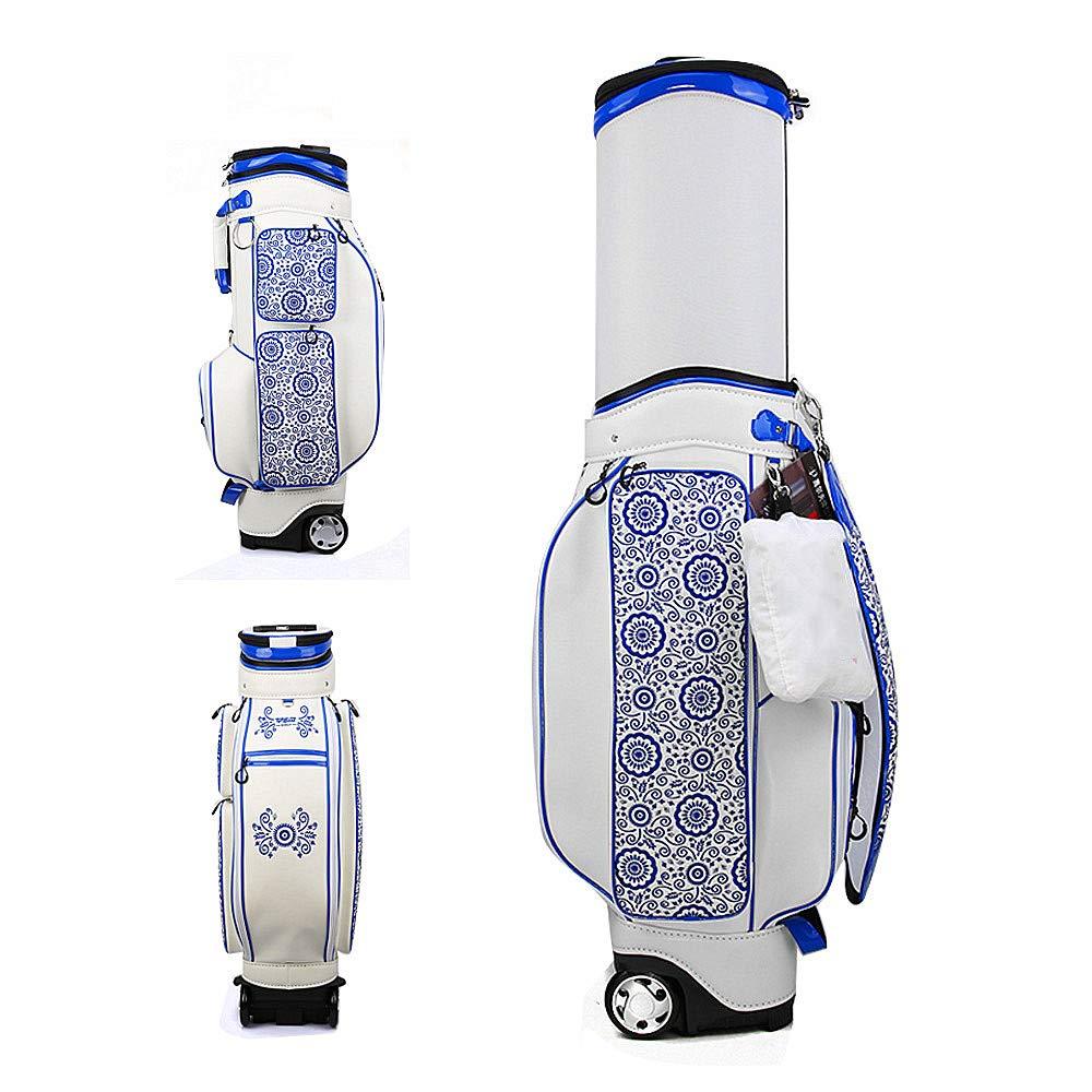 ゴルフエアバッグ、6個のTEEポジション挿入、3.93インチ厚プーリー、レインカバー、多目的格納式ボールキャップ、カートゴルフバッグ   B07SR3LVMD