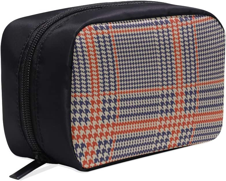 Clásico Inglés Glen Plaid Bolsas de Cosméticos de Maquillaje de Viaje Portátil Organizador Estuche Multifunción Bolsas Pequeñas de Aseo Para Mujeres y Hombres Estuche de Cepillos: Amazon.es: Belleza