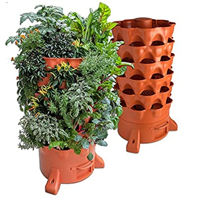 Garden Tower 2 - The Composting 50 Plant Organic Container Garden