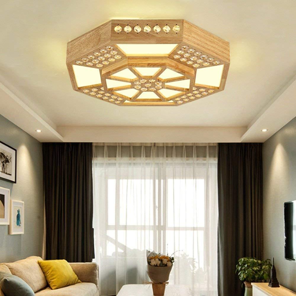 Haiyao 天井ランプ、ホームリビングルーム天井ランプ、寝室の装飾のシャンデリア、アクリルはシンプルでモダンな天井灯のシャドウサロンを導きましたシーリングライト&クリエイティブパーソナリティモダンラウンドホテル (Color : 45cm) B07Q2J8F3P 45cm