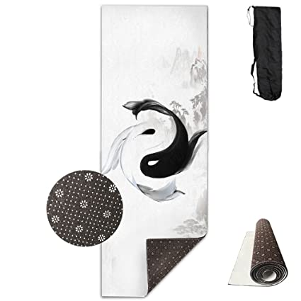 Amazon.com : Tai Chi Fish Premium Design Yoga Mat, Extra ...