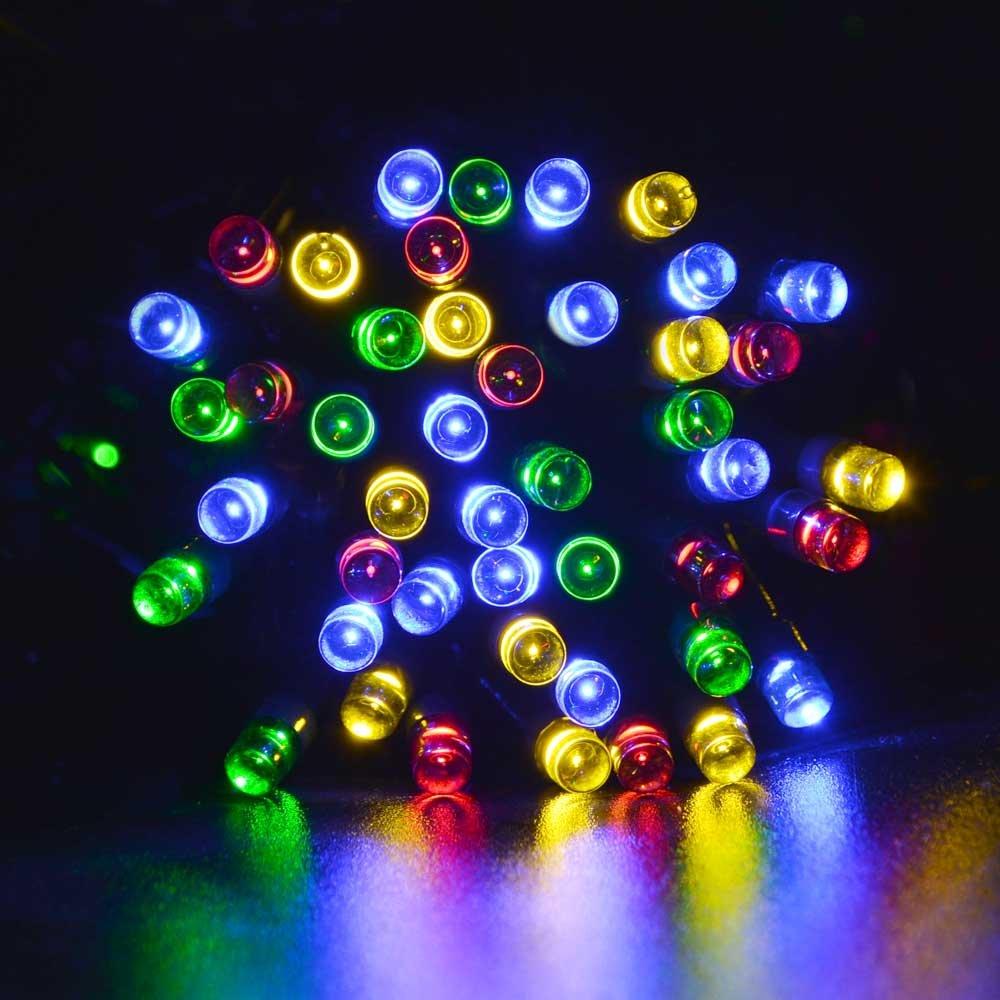 lederTEK Energía Solar Luces de Hadas de Cuerda m LED Modos de