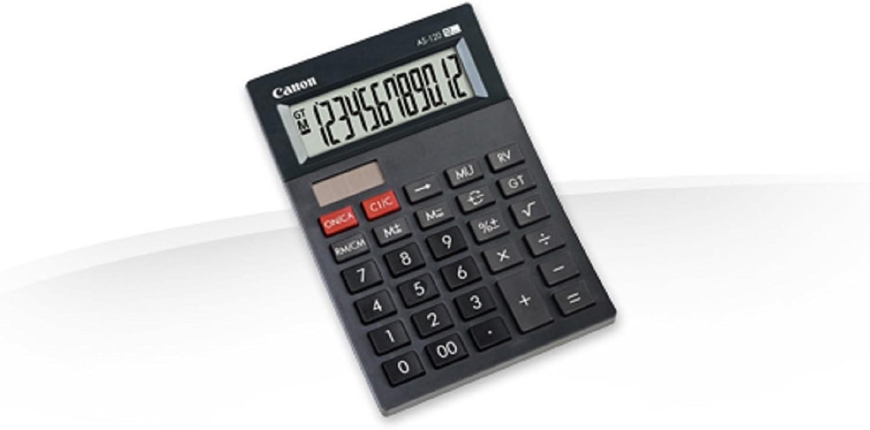 Calculadora sobremesa Canon AS-120 Negra: Amazon.es: Oficina y ...