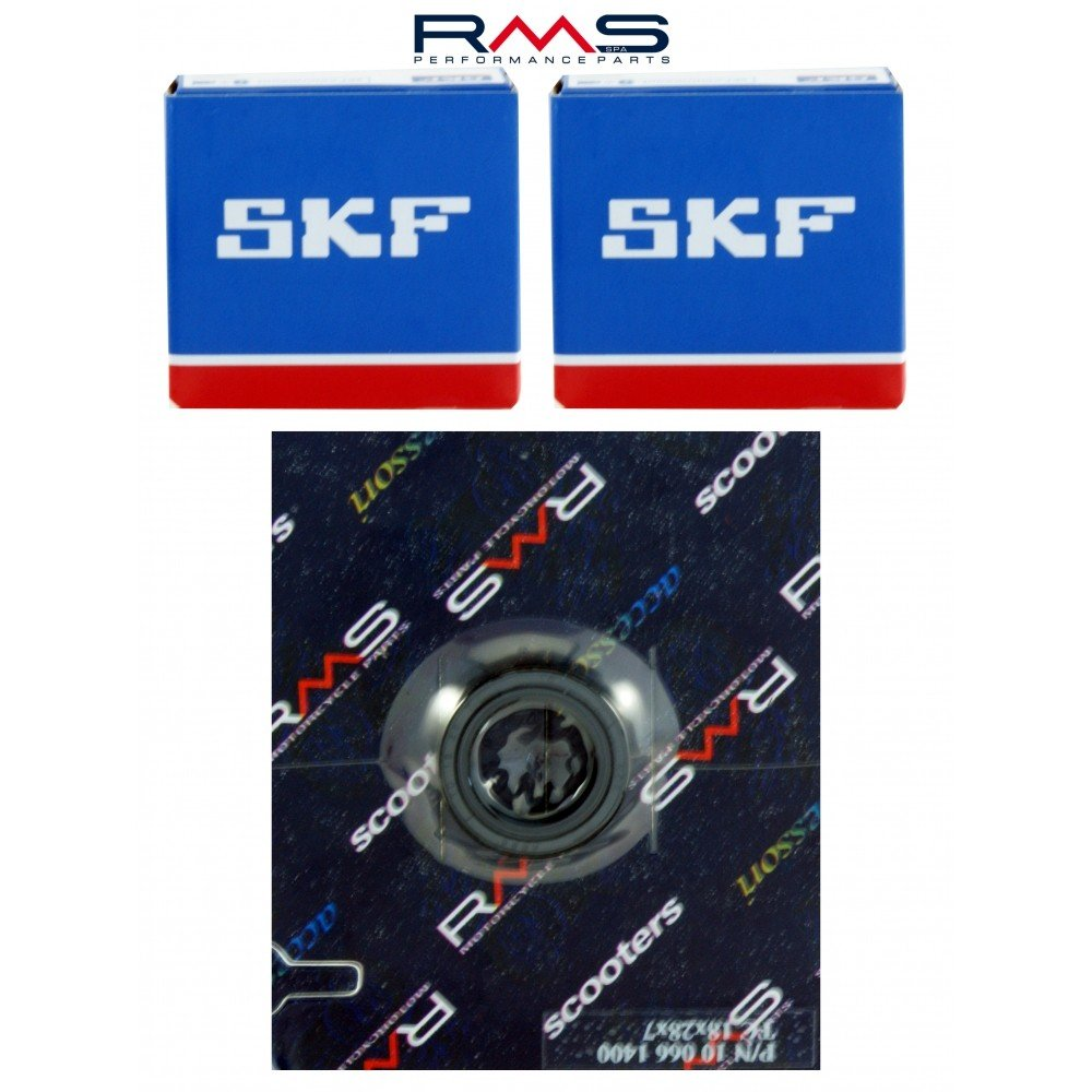 Crankshaft Bearing includes Shaft Seals for Piaggio Moped Ciao SI Boxer Bravo RMS