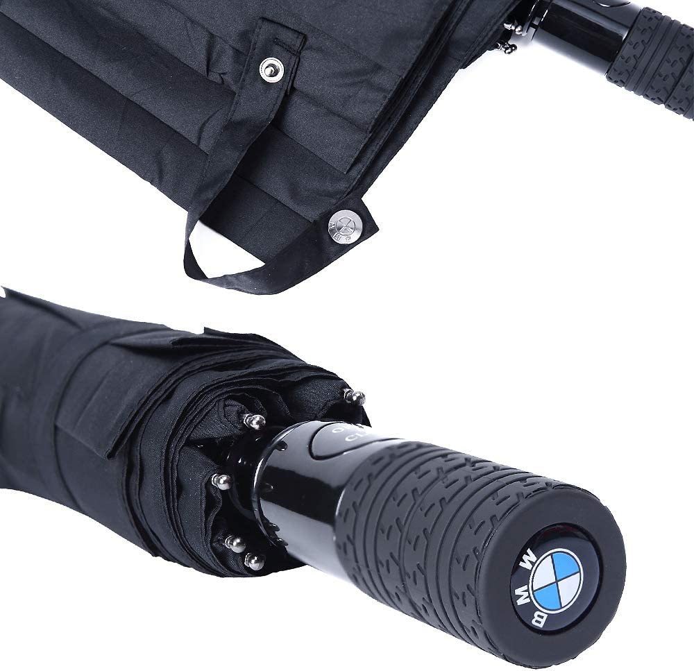 2020 New Design Automatic Auto Open Folding Umbrella Sport Large Umbrella For Windproof Sunshade Travel Including Telfon Coating Super Quality 42Inch Inside 46Inch Outside For Audi Car QZS QS115