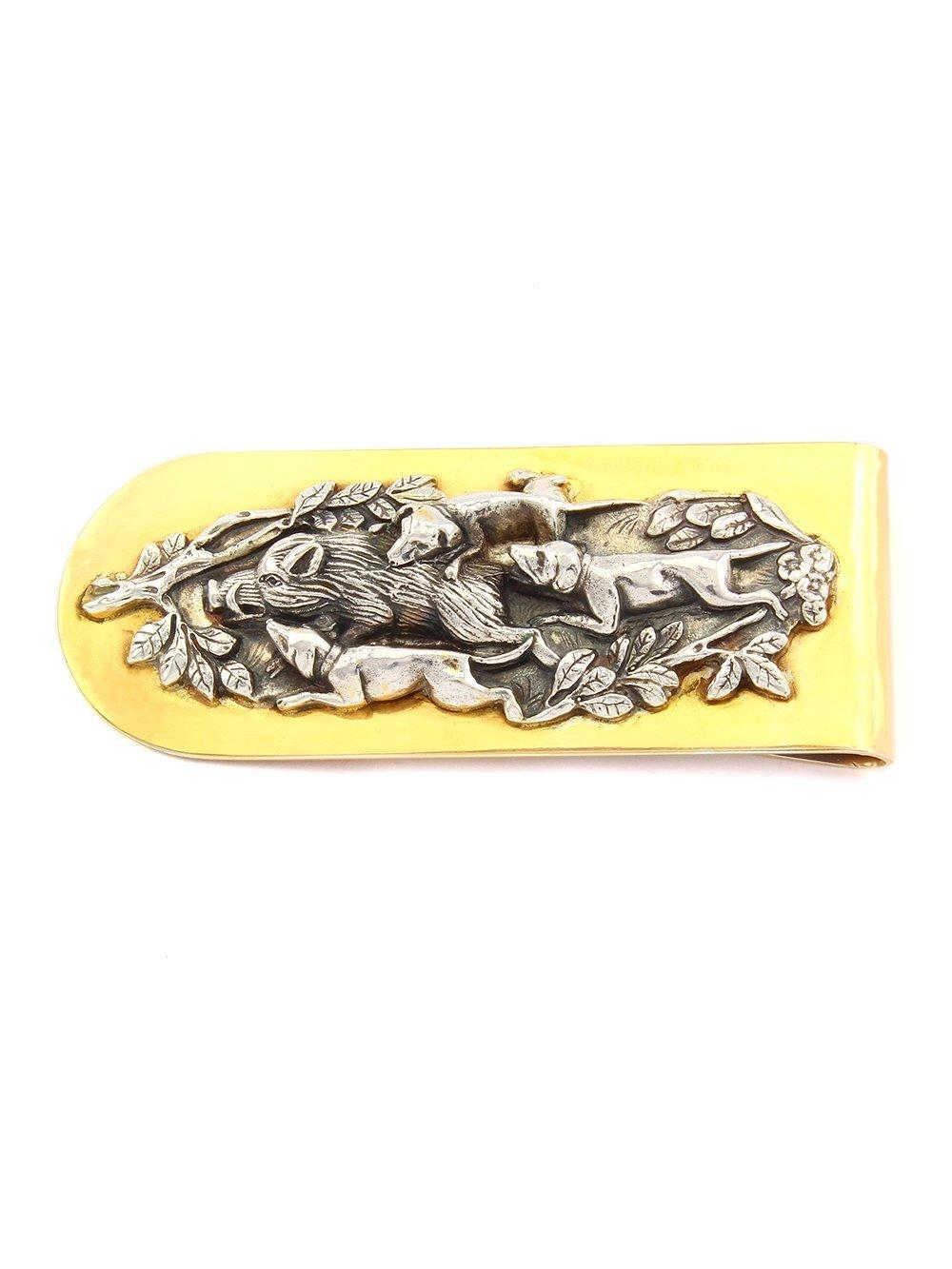 Silver Banknote clip Money clip ''Hunting''