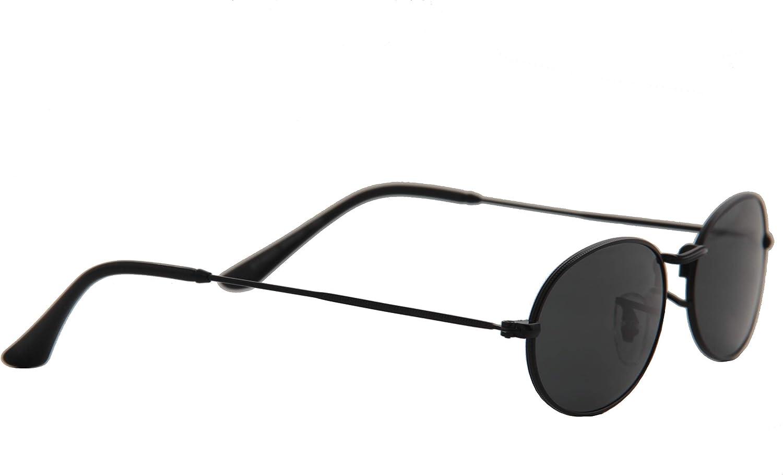 Small Metal Vintage Oval Frame Sunglasses IVOZZO