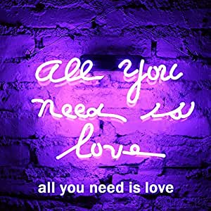 Fuyalin neon sign all you need is love home decor light bedroom share facebook twitter pinterest stopboris Gallery