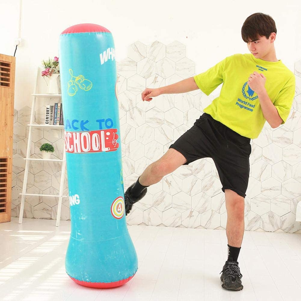 Standboxsack Boxsack Stehend Aufblasbare Boxs/äule Tumbler Kinder//Erwachsene Fitness Dekompression Sands/äcke Kick Kampftraining fllyingu Boxsack Kinder 160cm