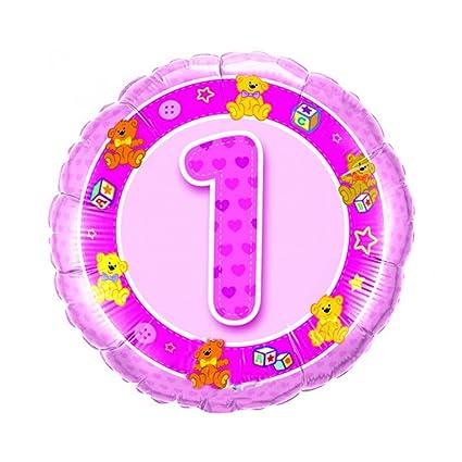Pantalla 1. Hasta 5 globos Cumpleaños Niña Color: Rosa ...