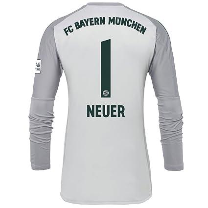 ad71b82a7 adidas Bayern Munich Home Neuer 1 Goalkeeper Jersey 2018 2019 (Official  Printing) -