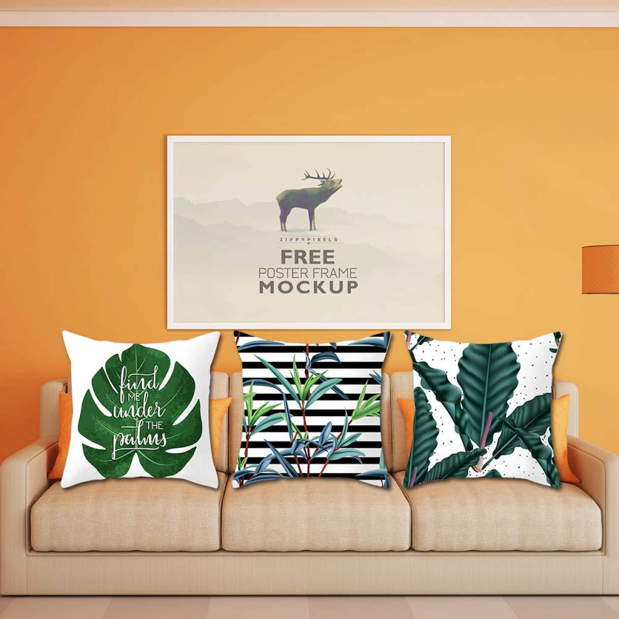 QTBWen - Funda de cojín para sofá, diseño de Plantas ...