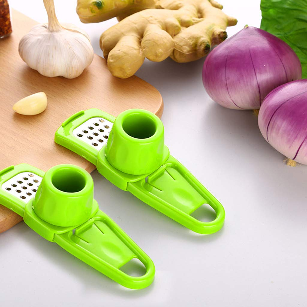 Pulison Garlic Slicer Cutter Shredder Kitchen Tool Good Grips Material PP+Stainless Steel Multi Blade Adjustable Mandoline Slicer and Vegetable Julienner (GN) by Pulison (Image #1)