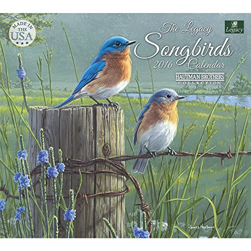 Legacy Publishing Group 2016 Mini Wall Calendar, Songbirds (MCA21344)