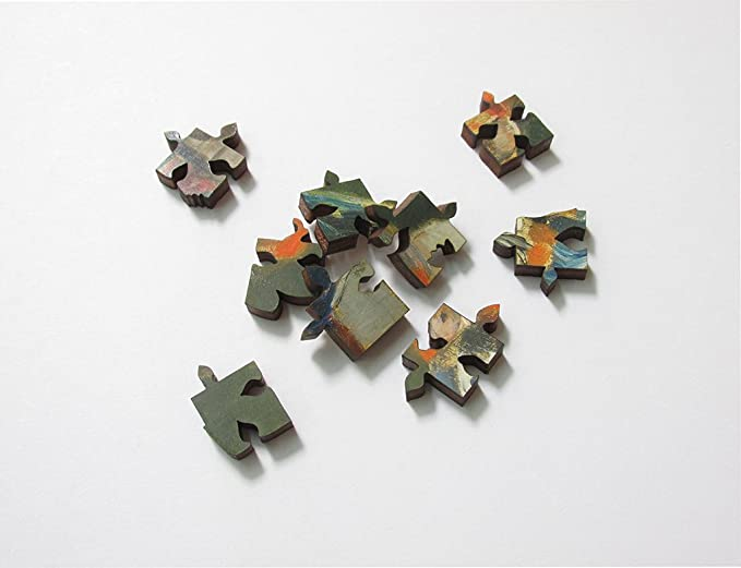 Hartmaze Wooden Jigsaw Puzzles-Flowers Fury Blossom in Beauty and Fascination 246 Truly Unique Pieces Small Square Shape-Best Choice for Adults and 10 Years Age up Kids.