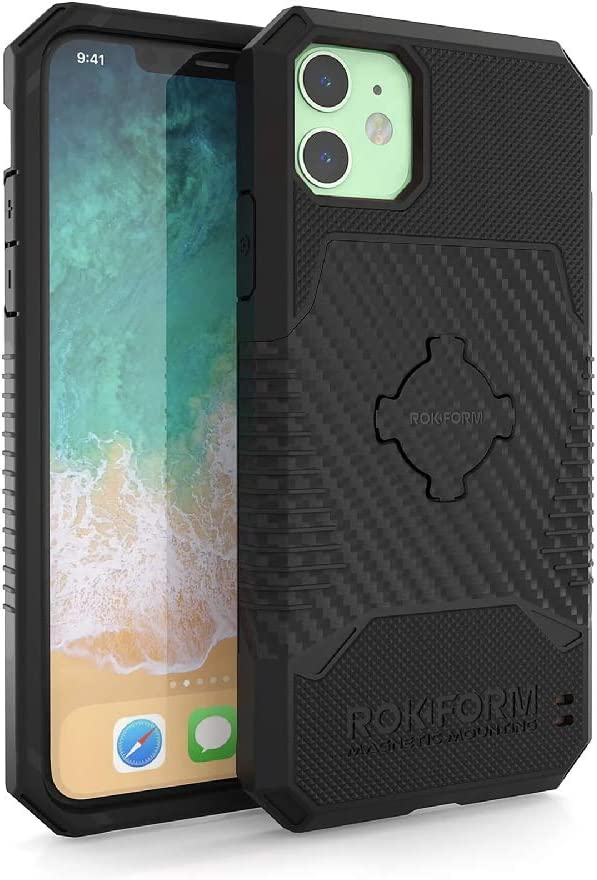 Rokform Rugged [iPhone 11] Military Grade Magnetic Protective Phone Case with Twist Lock - Black