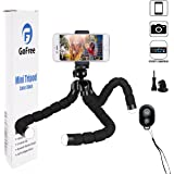 Phone Tripod, GoFree GoPro Tripod Portable Camera Mount Tripod with Remote Shutter Desk Flexible Tripod for iPhone X 6 6s 5 5s Plus 7 7S 8 Plus SLR Digital Camera GoPro Hero 5/4/3 (Upgrade Version)