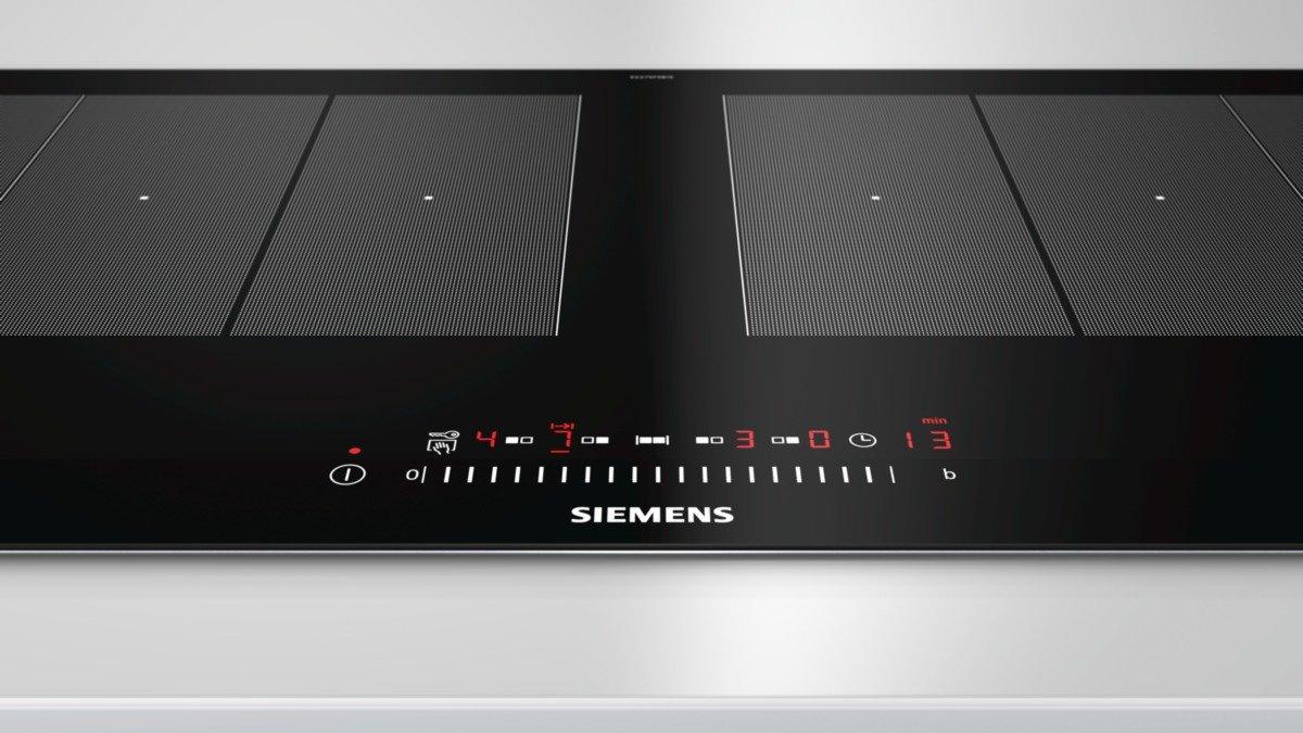 Siemens EX275FXB1E - Placa / Integrado Con (Vidrio y cerámica, Negro, Acero inoxidable, 3700 W, 20 cm)