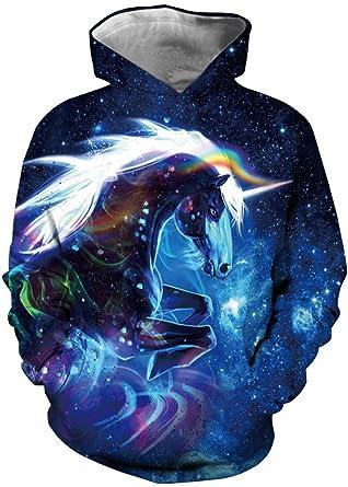 EUDOLAH Jungen Sweatshirts für 4-13 Alter Kinder Langarm 3D Druck  Mehrfarbig Bunt Kids Herbst Winter Hemd mit Kaputzen  Amazon.de  Bekleidung 13c45e9c3f