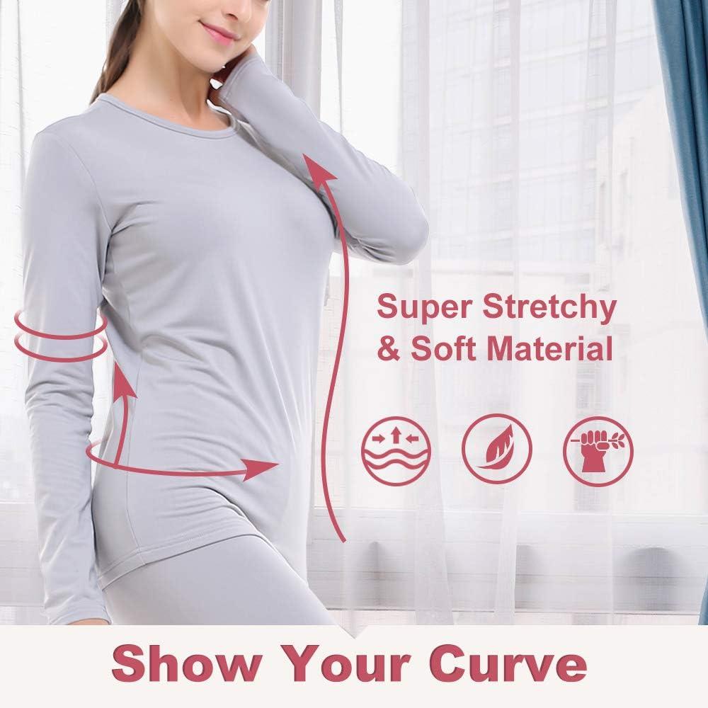 Subuteay Thermal Underwear for Women Fleece Lined Long Jonhs Set Top /& Pants