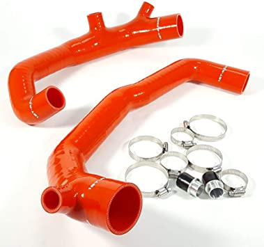 Ispeedytech 2 Silicone Inlet Intake Kit For BMW 135i 335i 535i Z4 N54 L//RHD Blue