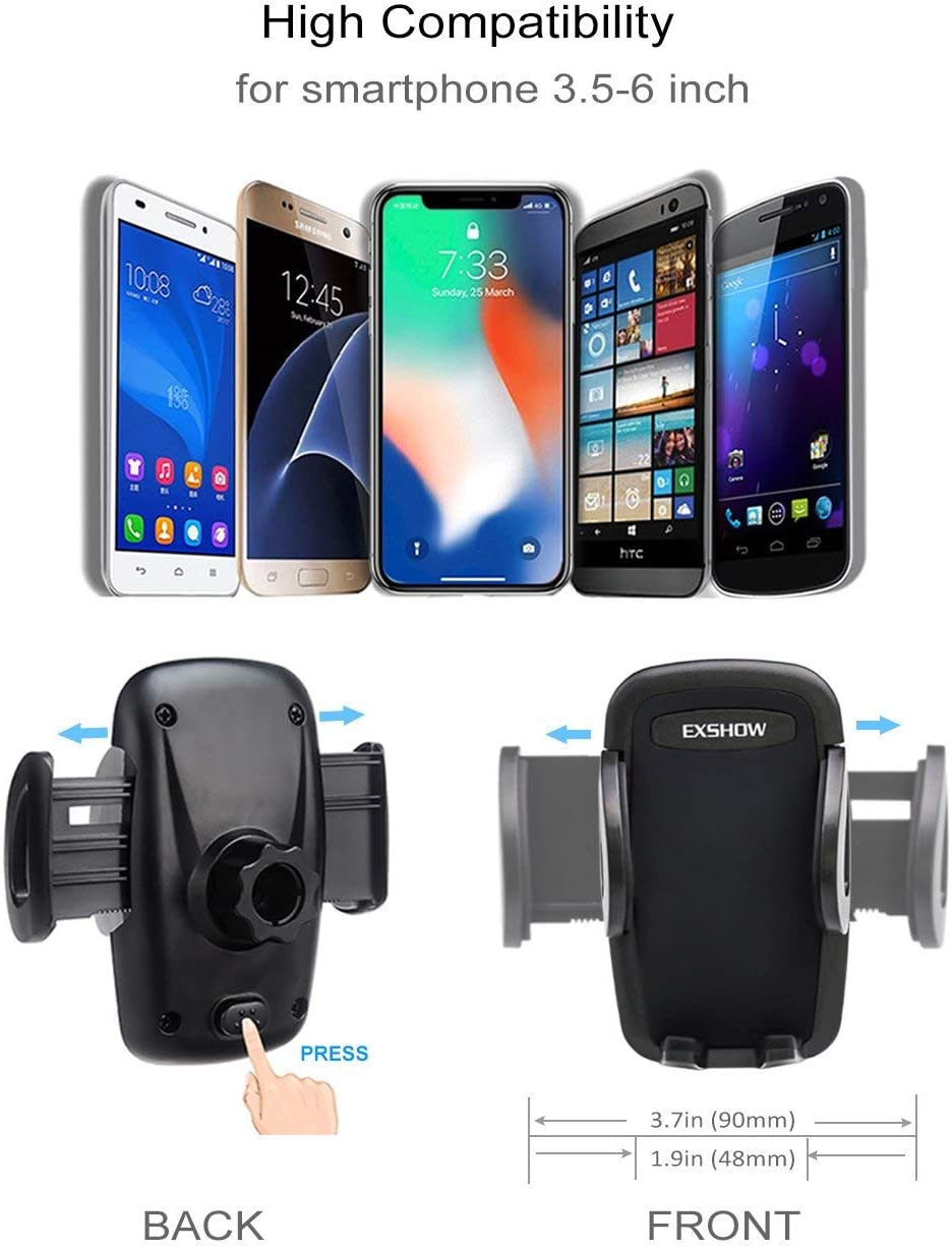 Compatible with 3.5-6.5 inch iPhone and Samsung Series EXSHOW 2-Pack 8.5 Inch Flexible Long Arm Magnetic Phone Holder for Deep Dashbaord
