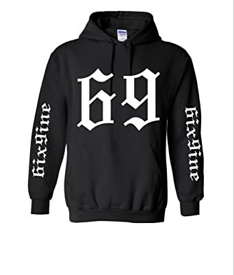 ThTshack Adult Hoodie 6ix9ine 69 Trendy Top Cool Stuff Popular Hot Sweatshirt (Small, Black