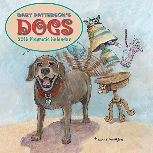 2016 Gary Patterson's Dogs Magnetic Mount Wall Calendar