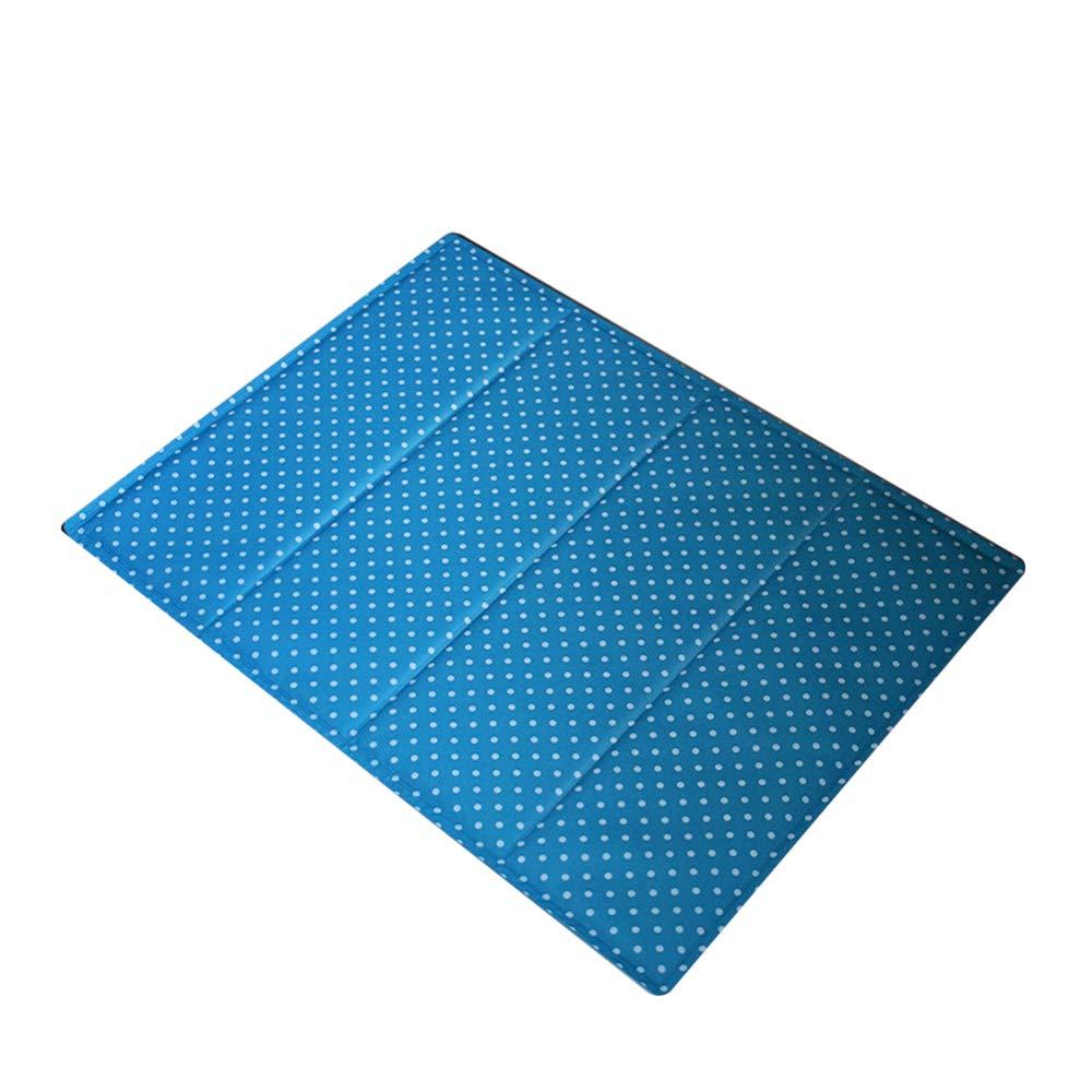 bluee 3545cm bluee 3545cm Pet Ice Pad Summer Cool Pad Quality Sand Ice Pad Sleeping Cool Pad Cat and Dog Kennel Supplies,bluee-35  45cm