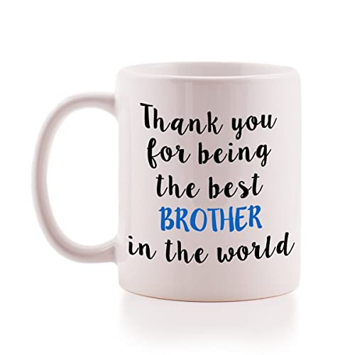 Thank You For Being The Best Brother In World Mug