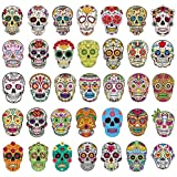 Sugar Skull Stickers Pack 50pcs Laptop Skull decals dia de los muertos Mexican Day of the Dead Sticker Bomb Water Bottle Luggage Bike Computer Skateboard Vinyl Decal Pack (Sugar Skull stickers 50pcs)