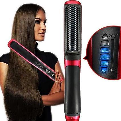Amazon.com: Cepillo eléctrico para alisar el pelo, iones ...